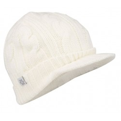 Cap with peak knitted women white