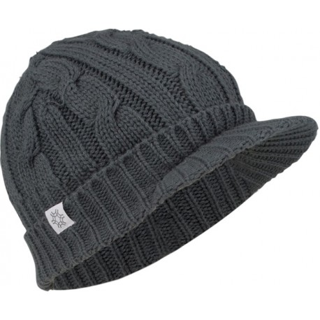 Cap with peak knitted women grey Starling