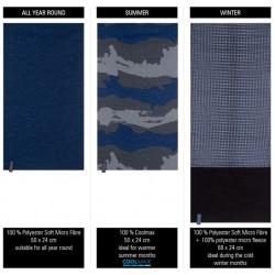 Neck Warmer Set Men's dark blue/anthracite/grey Avento