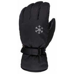 Women's Ski Gloves Waterproof ESKA black