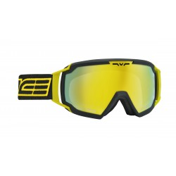 Ski Goggles Charcoal Yellow Double Antifog Salice