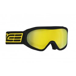 Μάσκα σκι με διπλό αντιθαμβωτικό καθρέφτη Salice blk/yell