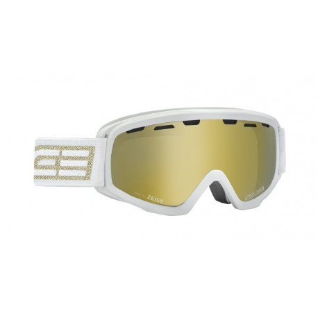Junior Ski Goggles Double Antifog Vented Mirror Salice Gold