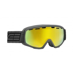 Jounior Ski Goggles Double Antifog Vented Mirror Salice charcoal yellow