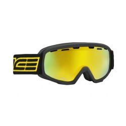 Jounior Ski Goggles Double Antifog Vented Mirror Salice blk/yell