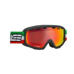 Junior Ski Goggles Double Antifog Vented Mirror Salice ita blk/red