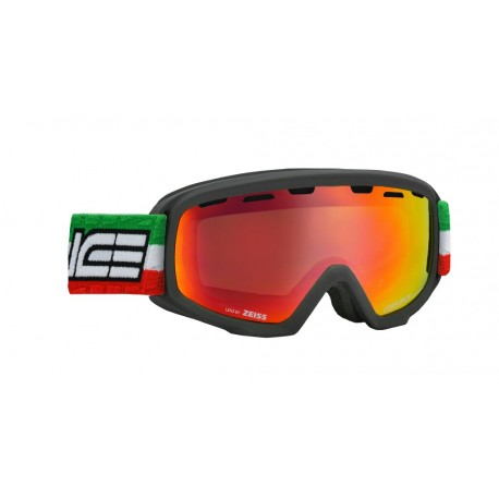 Junior Ski Goggles Double Antifog Vented Mirror Salice blk/red