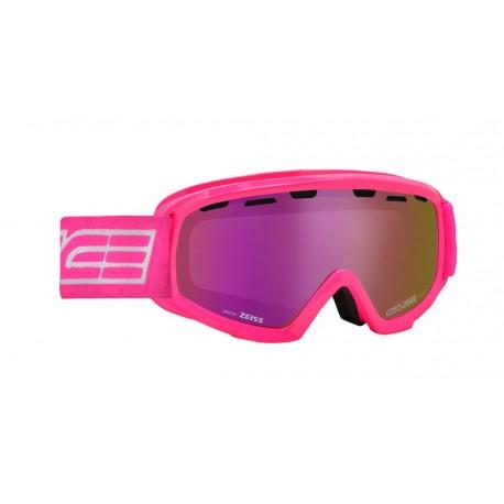 Jounior Ski Goggles Double Antifog Vented Mirror Salice fuchsia/violet