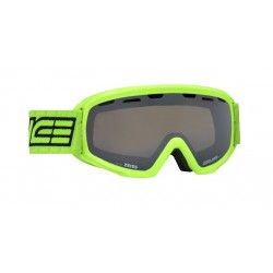 Junior Ski Goggle Double Antifog Vented Mirror Salice lime/blk