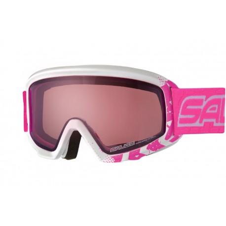 Jounior Ski Goggles Double Antifog Salice wh/fuchsia