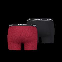 HEAD Men's boxer black/red (2 pack)