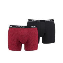 HEAD Ανδρικά boxer black/red (2 pack)