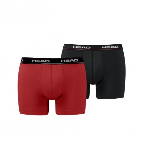 HEAD Men's Boxer red/black (2 pack)