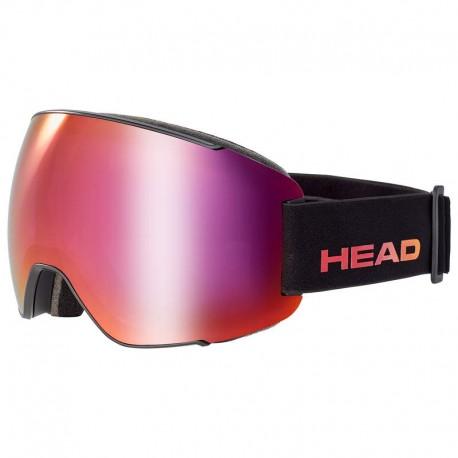 HEAD Ski Goggles Magnify FMR + Sparelens black/red (2021)