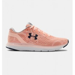 Women's UA Charged Impulse BG Running Shoes peach frost/white