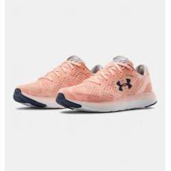 Women's UA Charged Impulse BG Running Shoes peach froast/white