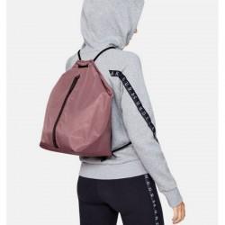 Women's UA Essentials Sackpack hushed pink / black