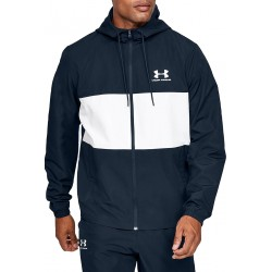 Men's UA Sportstyle Wind Jacket academy/onyx white