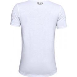 Boys' UA Sportstyle Logo Short Sleeve white