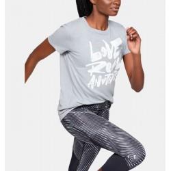 Women's UA Love Run Another Short Sleeve mod gray medium heather / hhite