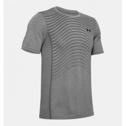 Men's UA Seamless Wave Short Sleeve grey