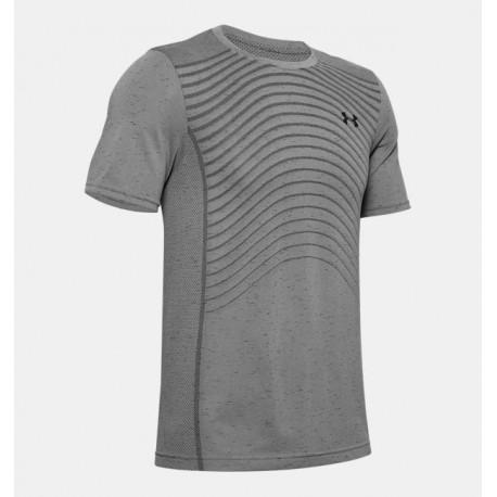 Men's UA Seamless Wave Short Sleeve grey