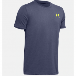 Boys' Under Armour Sportstyle Left Chest Short Sleeve blue ink