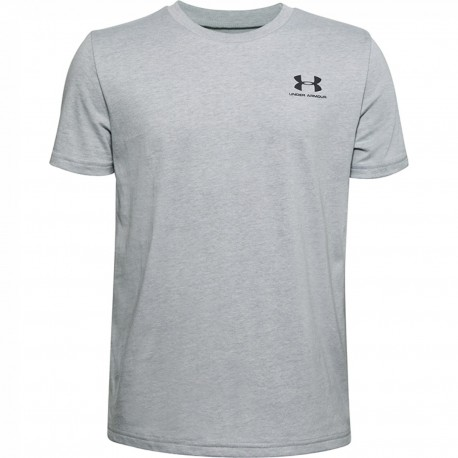 Boys' Under Armour Sportstyle Left Chest Short Sleeve grey