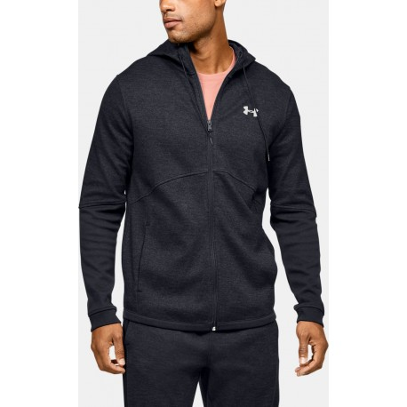 Men's Under Armour Double Knit Full Zip Hoodie black