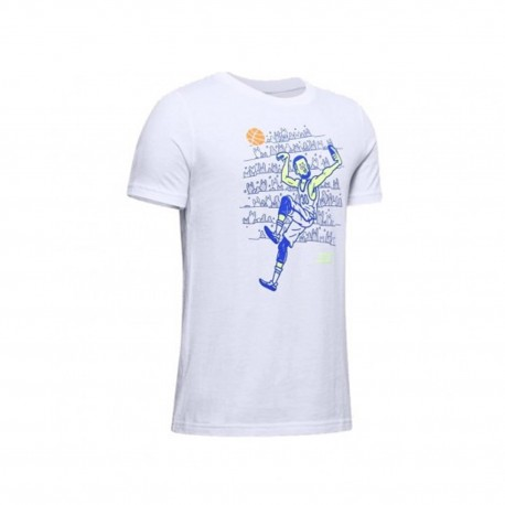 Under Armour Boys' SC30 Selfie T-Shirt white