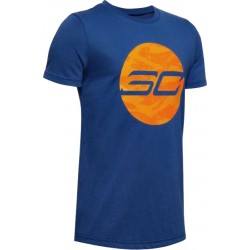 Under Armour Boys' SC30 HD Logo T-Shirt blue