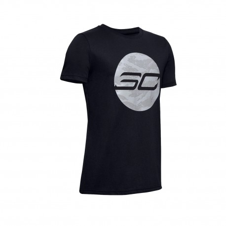 Under Armour Boys' SC30 HD Logo T-Shirt black