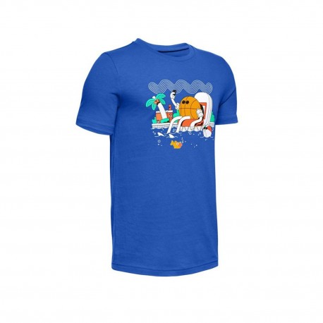Boys' Under Armour Mr. Buckets T-Shirt blue