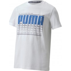 PUMA ACITVE SPORTS GRAPHIC TEE  Λευκό