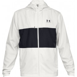 Men's Under Armour Sportstyle Wind Jacket onyx white