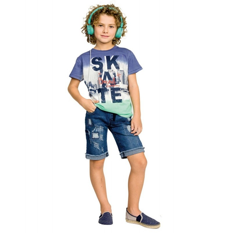 Kid's T-shirt blue ENERGIERS, 13-220007-5