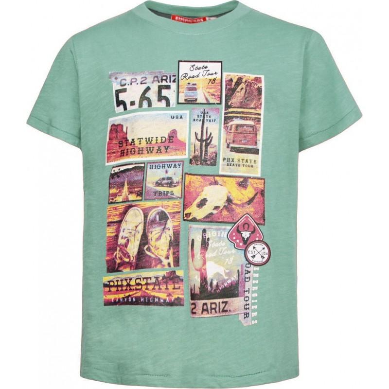 Kid's T-shirt green ENERGIERS, 13-220042-5