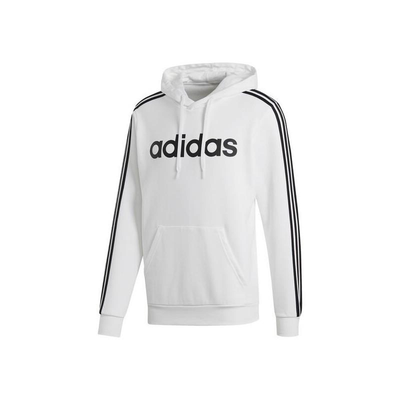 Adidas Logo Cotton Fleece Hoodie Men Pull Over White, FI0806