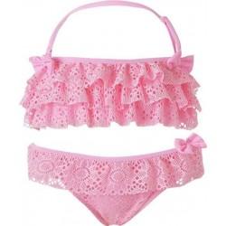 Παιδικό μαγιό bikini με βολάν ροζ ENERGIERS, 36-218208-8